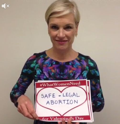 Cecile Richards reklamuje aborcję na Dzień sw. Walentego, fot. lifenews.com