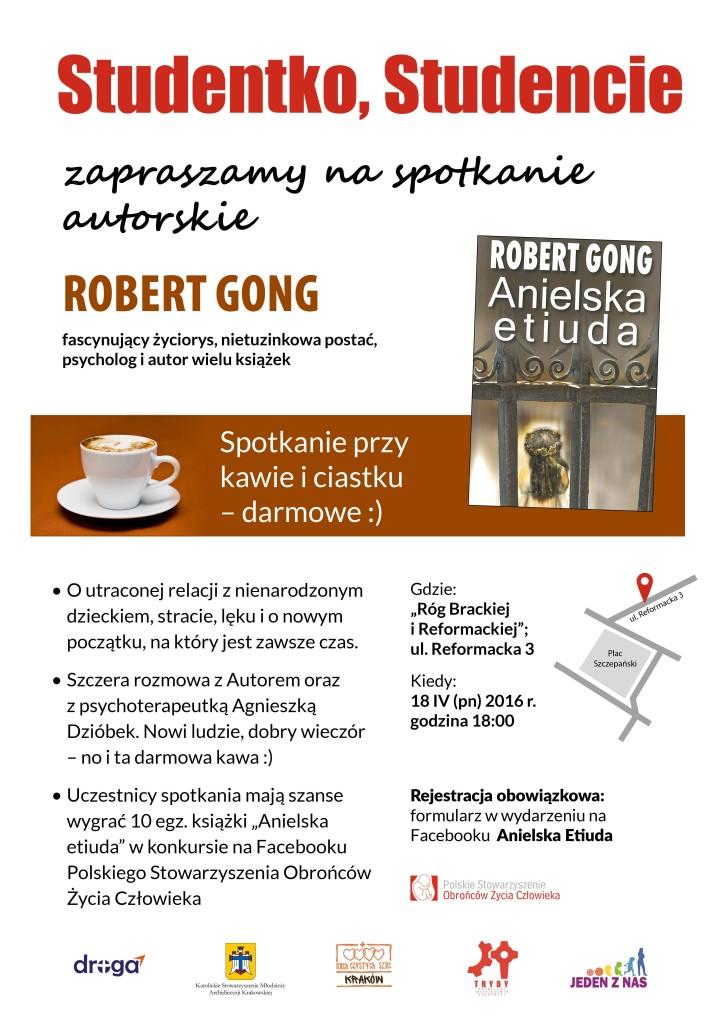 Plakat - spotkanie R. Gong