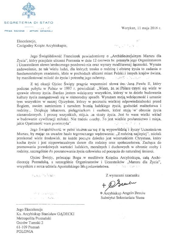 list-papieza-franciszka-marsz-poznan