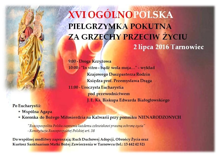 Pielgrzymka Tarnowiec 2016