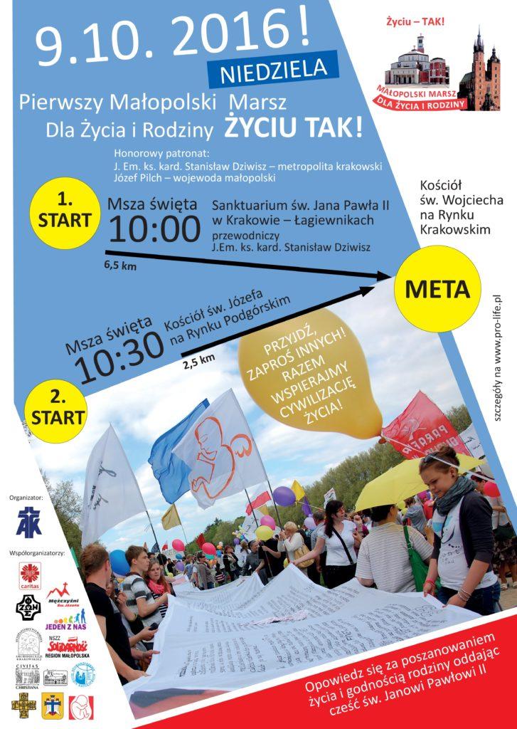 Małopolski Marsz dla Życia i Rodziny