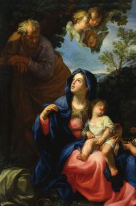 Giovanni Odazzi, Odpoczynek w czasie ucieczki do Egiptu, XVIII w.