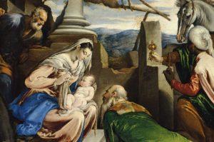 Jacopo da Ponte, Pokłon trzech króli, XVI w.