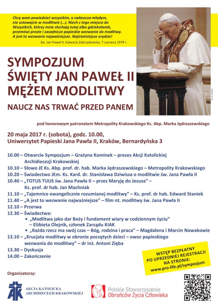 Sympozjum - JPII - plakat
