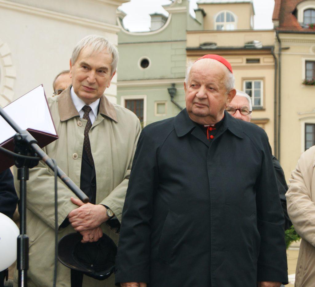 ks. kard. Stanisław Dziwisz i dr inż. Antoni Zięba