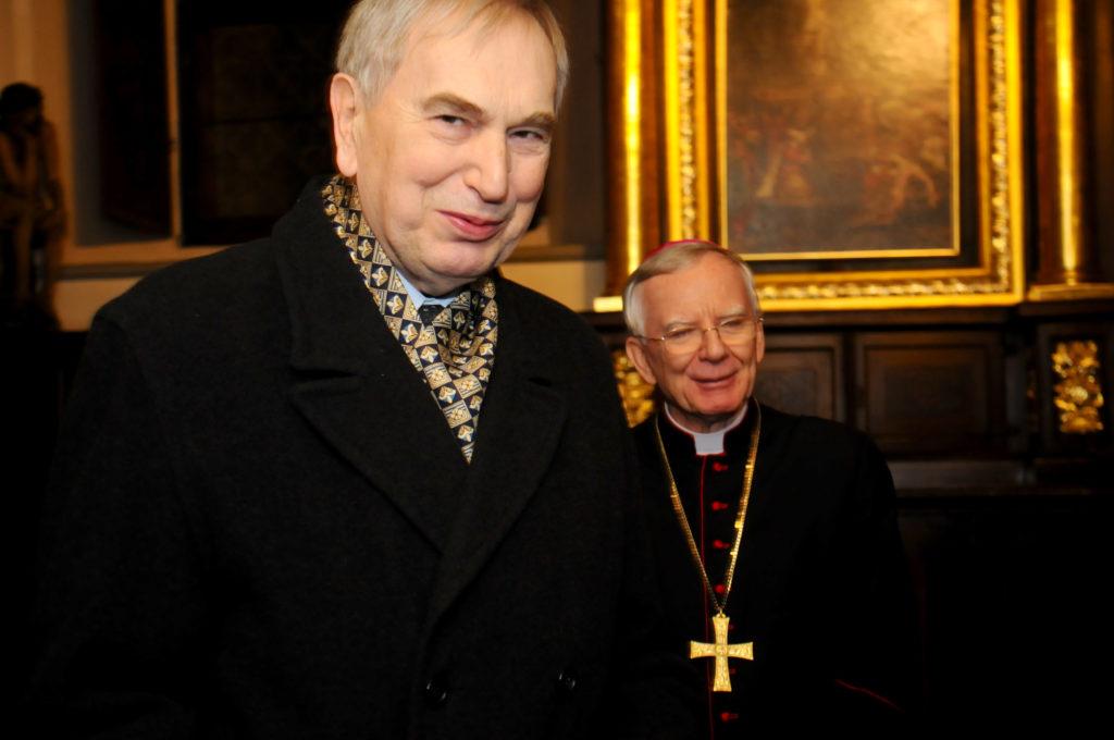 dr inż. Antoni Zięba i abp. Marek Jędraszewski